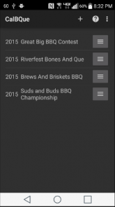 CalBQue bbq competition timeline main page